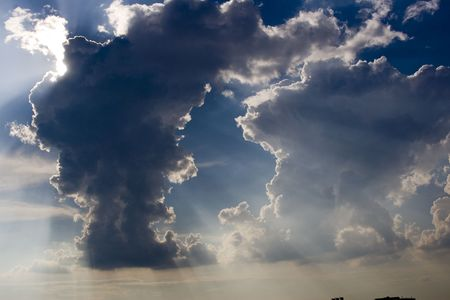 paulus: Dark clouds Stock Photo
