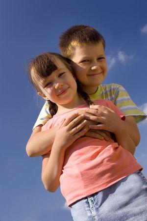 Children on sky Stock Photo - 714423