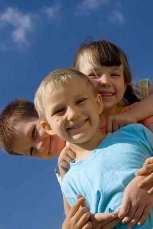 Children on sky Stock Photo - 714424