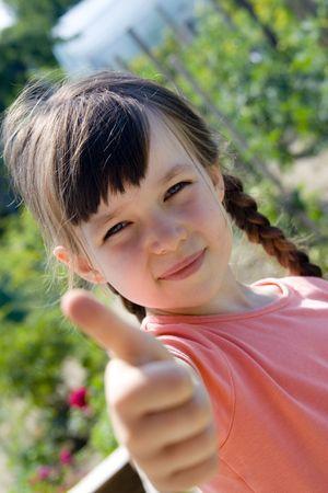 favorable: Happy girl Stock Photo
