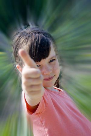 favorable: Success girl Stock Photo