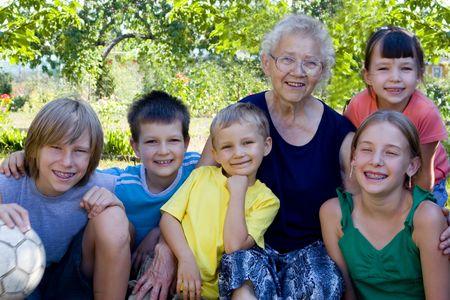 Children with grandma Stock Photo - 720893