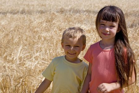 Sister and brother in cereal Stock Photo - 720875