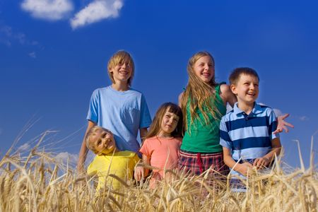 children in cereal Stock Photo - 720850