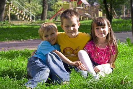 children in a park Stock Photo - 722682