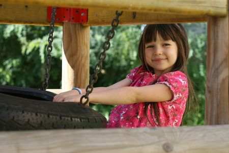 girl on a playground Stock Photo - 722678