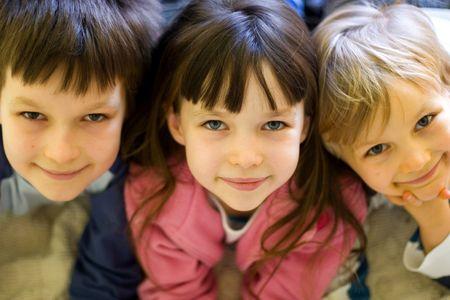three little kids Stock Photo - 722529