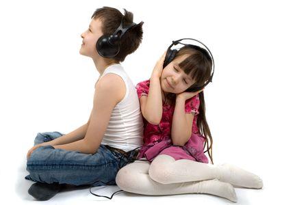 Children Listening To Music Stock Photo - 870604