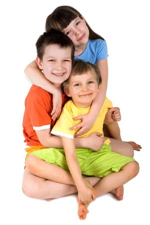 hearted: children Stock Photo