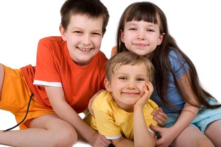 sister with brothers Stock Photo - 870665