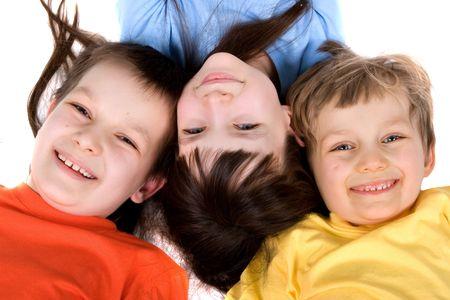 fun colors: children having fun Stock Photo