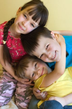happy sister with brothers Stock Photo - 870693
