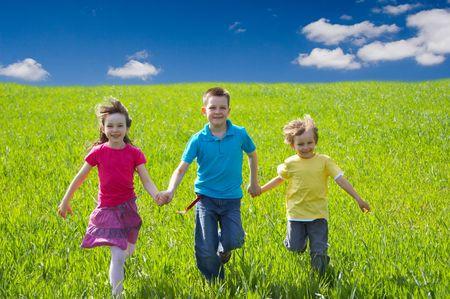running children Stock Photo - 1290081