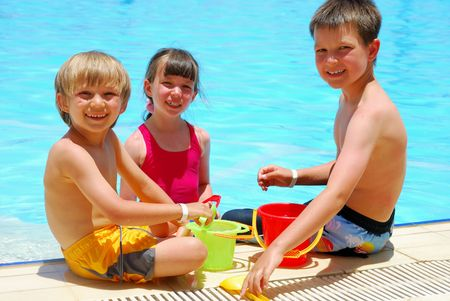 children in pool Stock Photo - 1201662