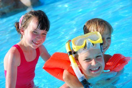snorkelers: fun in pool
