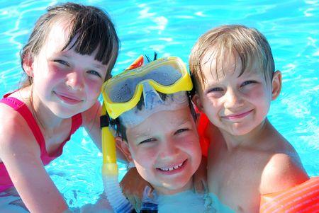 Happy swimmers Stock Photo - 1201671