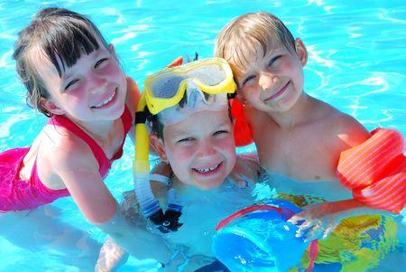 Happy swimmers