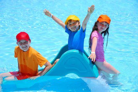 fun in pool Stock Photo - 1201708
