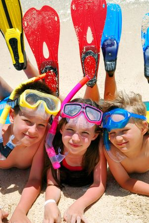 Snorkel Kids Stock Photo - 1201742