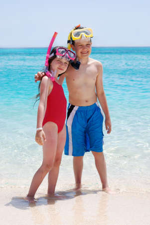 Brother & Sister at the Beach Stock Photo - 1201749