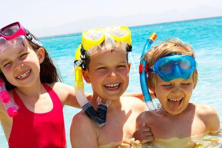 happy swimmers Stock Photo - 1201762