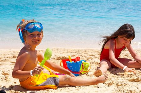 Children On The Beach Stock Photo - 1201763