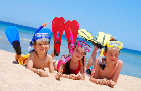 Snorkeling Kids Stock Photo - 1290116