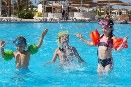 children sport: fun Stock Photo