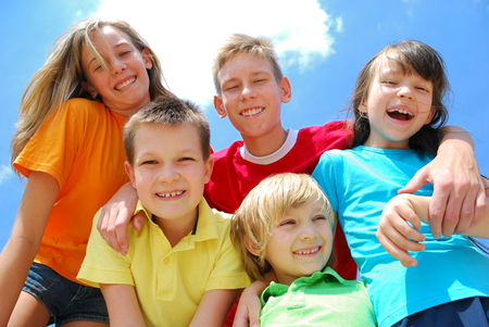 children at sky photo