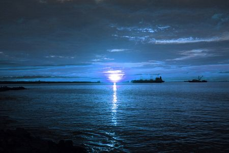 colon panama: Blue Monday - Sunset in Colon Panama