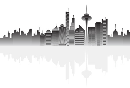 Big city skyline Vector