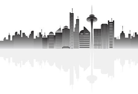Big city skyline Vector