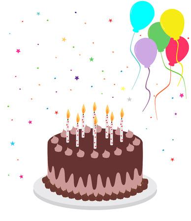 Chocolate birthday cake Stock Vector - 4627971