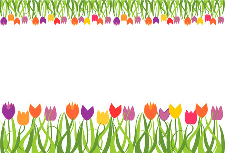 Tulip border frame Stock Vector - 4627970