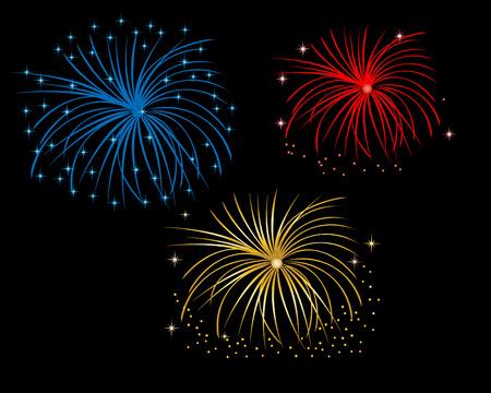 Firework display at night Stock Vector - 4718778