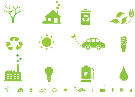 Environmental ecology symbols Vector