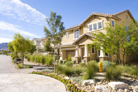 subdivisions: Stucco southwest houses