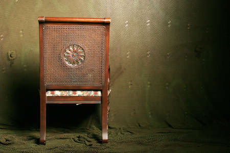 upholster: Back of an antique chair Stock Photo