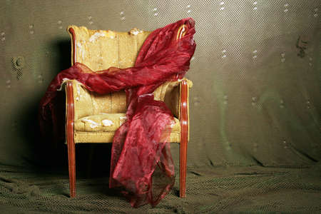 upholster: Antique chair in need of new upholstery