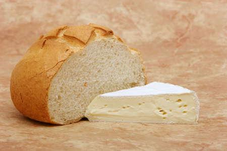 brie: Brie cheese and sourdough bread