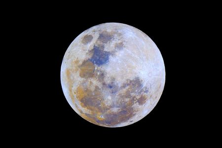 geology: Colors of the Moon realized with strong saturation