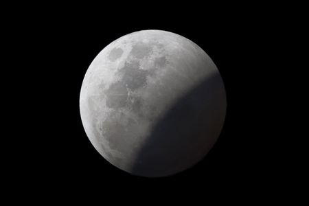 penumbra: Lunar Eclipse, the shadow of Earth is over Stock Photo
