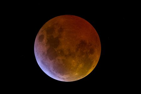 vastness: Lunar Eclipse, the shadow of Earth is over Stock Photo