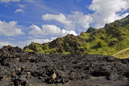 solidify: Suggestive landscape of the Etna volcanic mountain