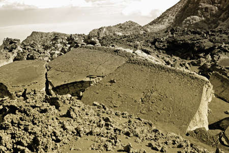 effusion: Photo of a old lavic casting, Etna Sicily