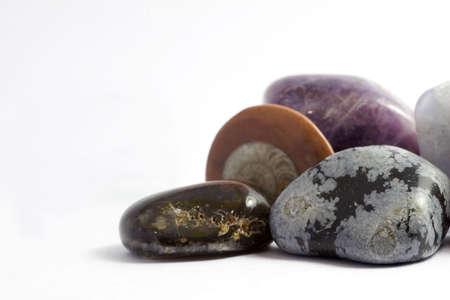 inorganic: Set of rocks e precious crystals