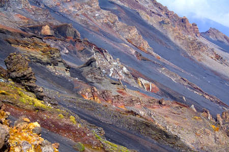 effusion: Volcanic rocks on the volcano Etna Stock Photo