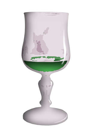 essence: Glass clipart, a glasses with green liquid essence