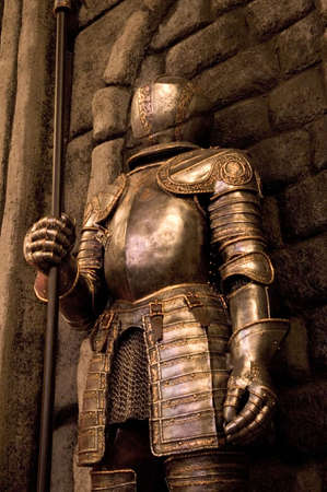 A knight standing guard.