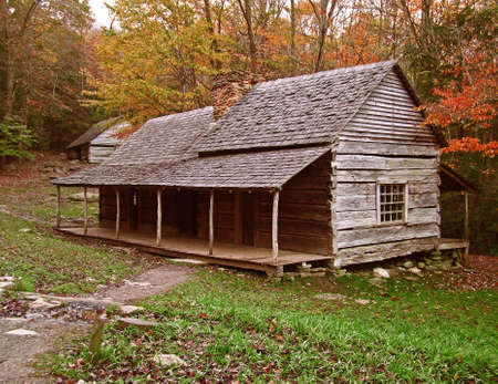 1800s Log Cabin photo
